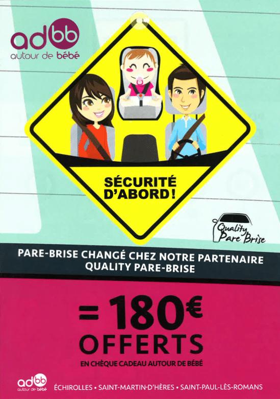 180€ chez Autour de Bébé Grenoble